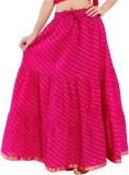 Kanak Striped Women's Regular Pink Skirt