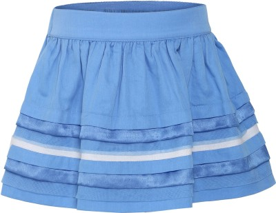 FS Mini Klub Solid Girl's Regular Blue Skirt