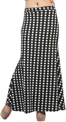 FamGlam Printed Women's Straight Black Skirt