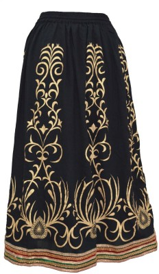 Pms Fashions Printed Women's Regular Multicolor Skirt