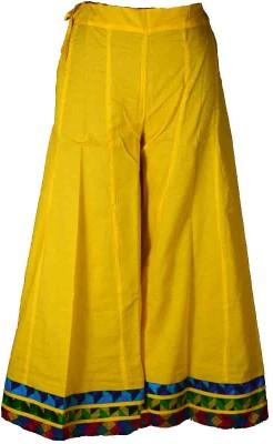Shopatplaces Solid Women's Regular Yellow Skirt