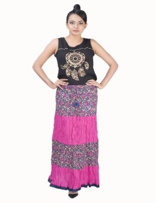 BigCart Printed Women's Regular Pink Skirt