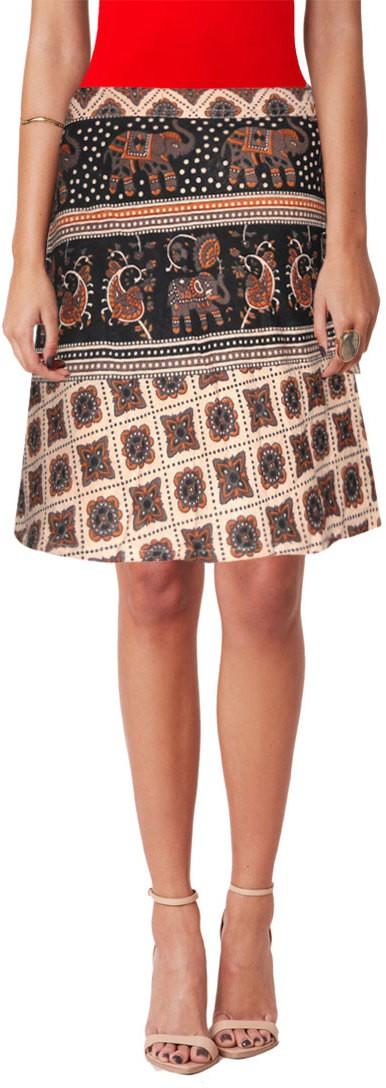 Sttoffa Printed Women's Wrap Around Multicolor Skirt