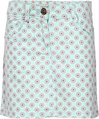 Dreamszone Printed Girl's Regular Blue Skirt