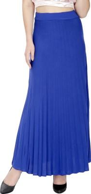 Svt Ada Collections Solid Women,s Regular Blue Skirt