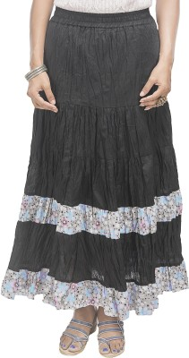 Retaaz Solid, Floral Print Women's Broomstick Multicolor Skirt