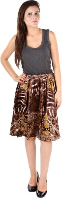 Gwyn Lingerie Graphic Print Women's Gathered Multicolor Skirt