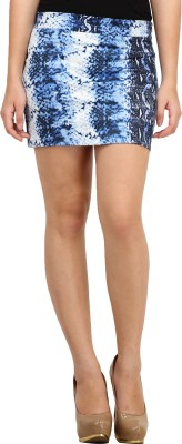 Cation Printed Women's Pencil Blue Skirt