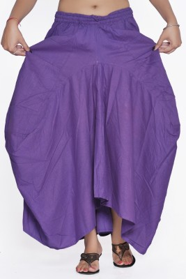 Jaipur Kala Kendra Solid Women's A-line Purple Skirt