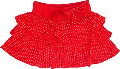 Garlynn Polka Print Girl's Layered Red Skirt