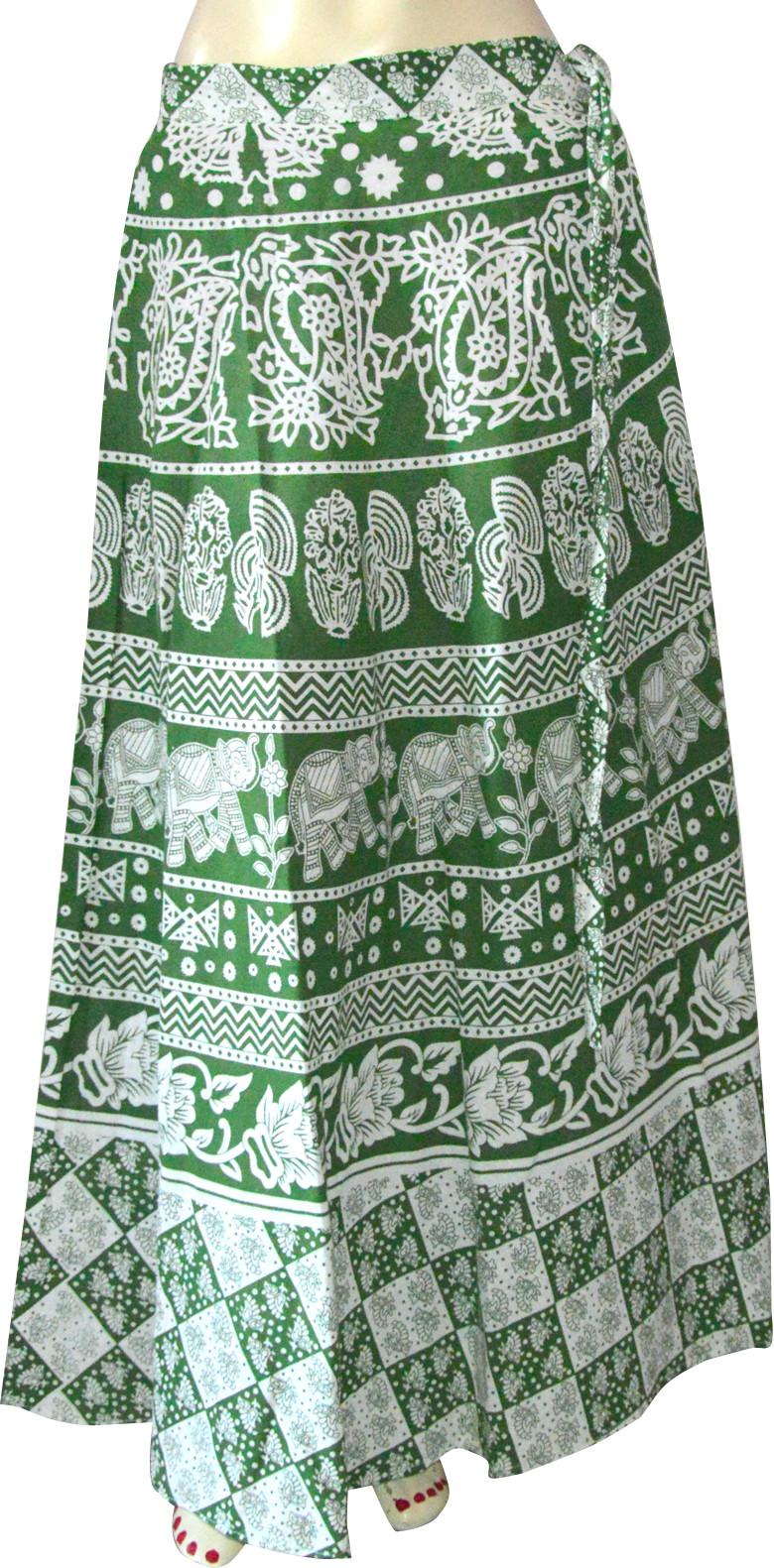 Marusthali Printed Womens Wrap Around Multicolor Skirt