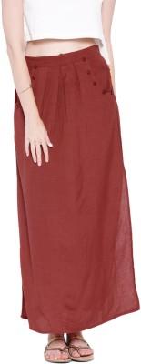 Anouk Solid Women's A-line Red Skirt at flipkart