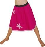 Aummade Self Design Girls A-line Pink Sk...