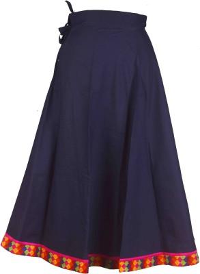 Shopatplaces Solid Women's A-line Dark Blue Skirt
