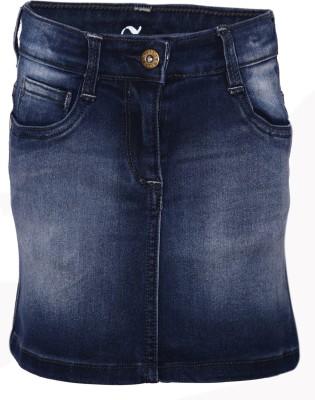 Dreamszone Solid Girl's Regular Blue Skirt