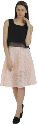 Holidae Solid Women's Regular Pink Skirt