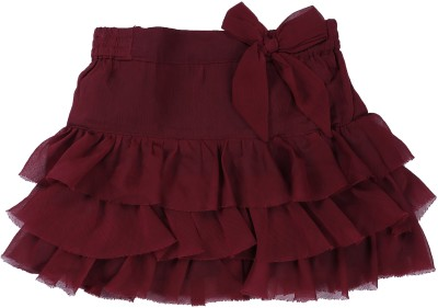 ShopperTree Solid Baby Girl's Pleated Green Skirt