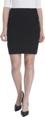 Vero Moda Solid Women's Pencil Black Skirt at flipkart