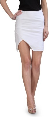Xoxo Solid Women,s Pencil White Skirt