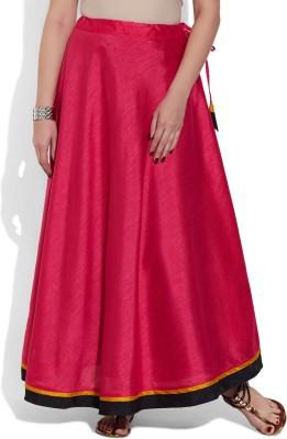 Very Me Solid Women's A-line Red Skirt