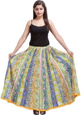 Sunshine Printed Women's A-line Multicolor Skirt