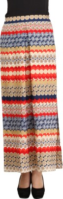 Cottinfab Printed Women's Pleated Multicolor Skirt at flipkart