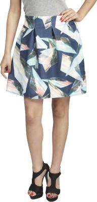 Naitik Printed Women's Regular Blue Skirt
