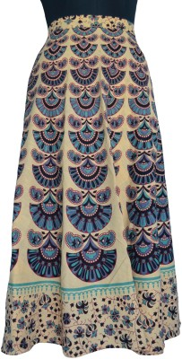 Pms Fashions Floral Print Women's Wrap Around Multicolor Skirt