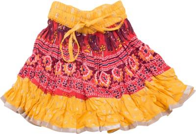 Sunshine Printed Baby Girl's A-line Yellow Skirt
