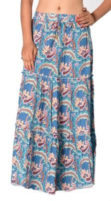 SBS Paisley Women's Tiered Blue Skirt