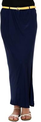 Rvestir Solid Women's Straight Dark Blue Skirt