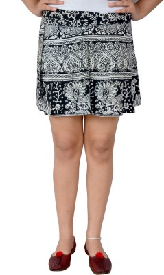 Urban Style Printed Women's Wrap Around Multicolor Skirt