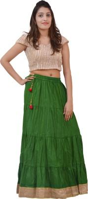 carrol Solid Women's A-line Green Skirt