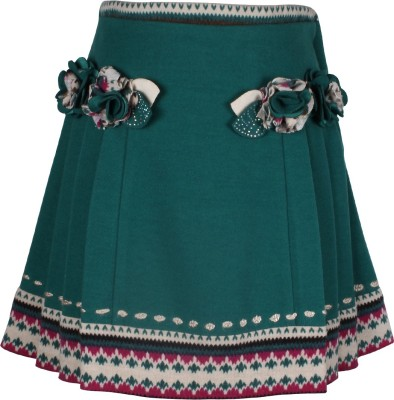 Cutecumber Solid Baby Girl's A-line Green Skirt