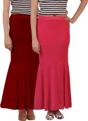 carrol Solid Women's Regular Maroon, Pink Skirt