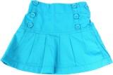ChildKraft Solid Girls Regular Blue Skir...