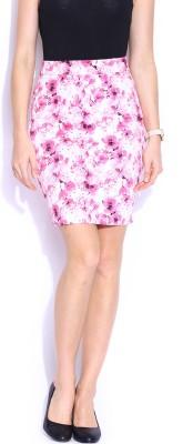 Mast & Harbour Printed Women's Tube Pink Skirt