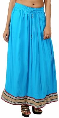 Indi Bargain Solid Women's A-line Light Blue Skirt