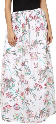 Tops and Tunics Floral Print Women's Regular White, Grey Skirt