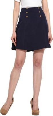 MSMB Solid Women's Regular Blue Skirt