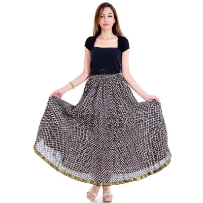 Sunshine Geometric Print Women's Regular Black Skirt
