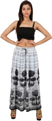 Udvs Printed Women,s A-line Black Skirt