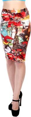 James Scot Geometric Print Women's Pencil Multicolor Skirt