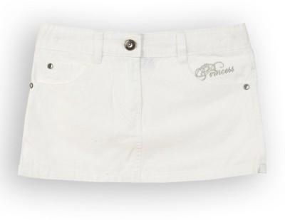 Lilliput Solid Girl's A-line White Skirt
