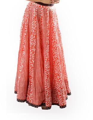 Chidiyadesigns Printed Women's Gathered Red Skirt