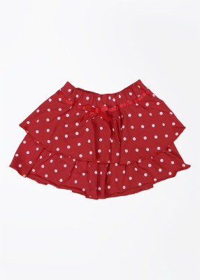 Cherokee Polka Print Girl's A-line White, Red Skirt