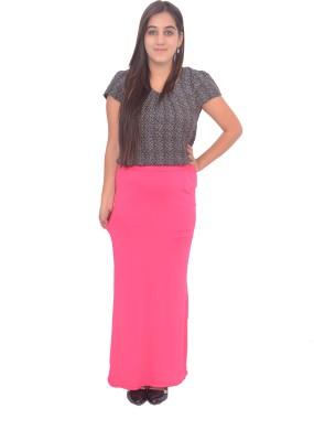 #Lets Selfie Solid Women's Tube Pink Skirt