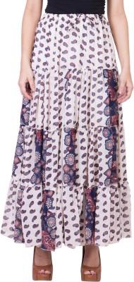 14forty Solid Women's Regular White Skirt