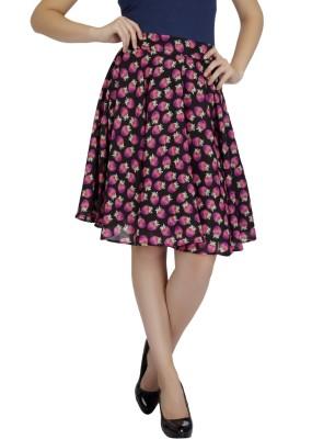 Mineral Printed Women's Layered Black Skirt