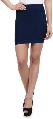 N-Gal Solid Women's Pencil Blue Skirt